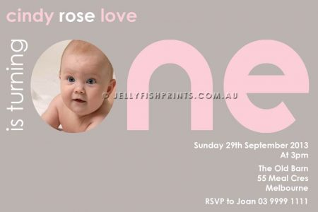 pink 1st birthday invitations