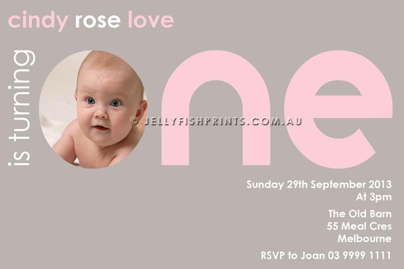 print your 1st birthday invitations