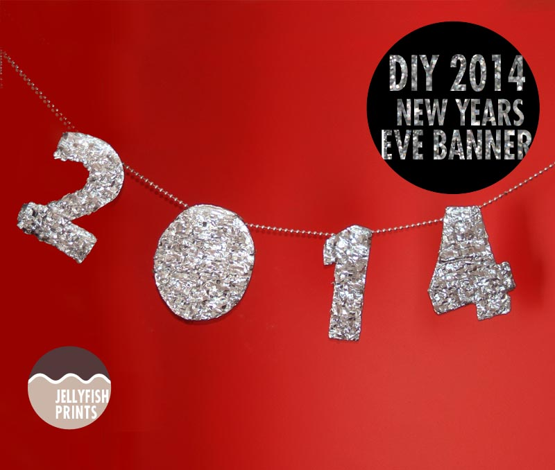 DIY banner for NYE party