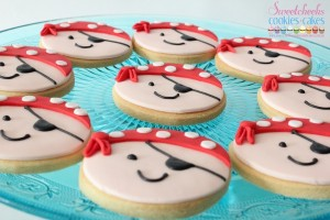 Pirate themed cookies by Sweet Cheeks