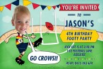 AFL invitations in Adelaide crows colours