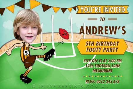 printable Aussie rules birthday invitations