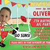 Gold coast suns AFL birthday invitations