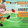 Birthday invitations in the GWS Giants colours