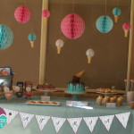 Ice Cream birthday party dessert table