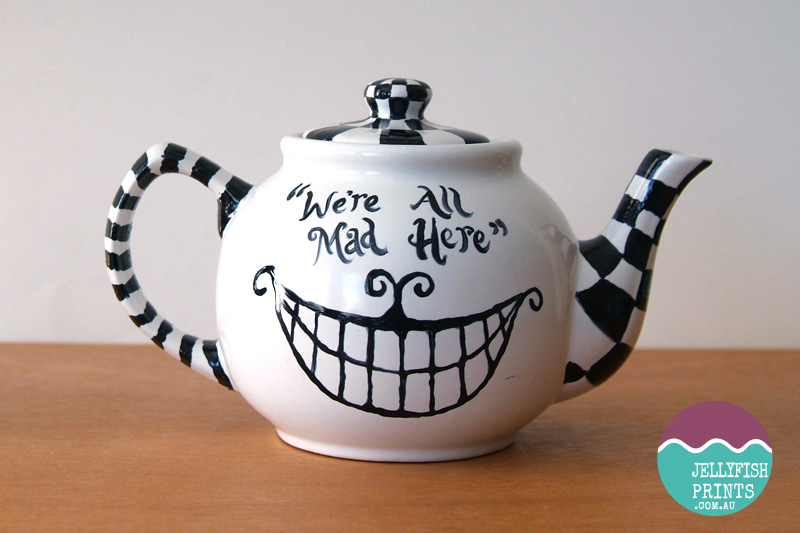 Handpainted Alice in Wonderland Teapot