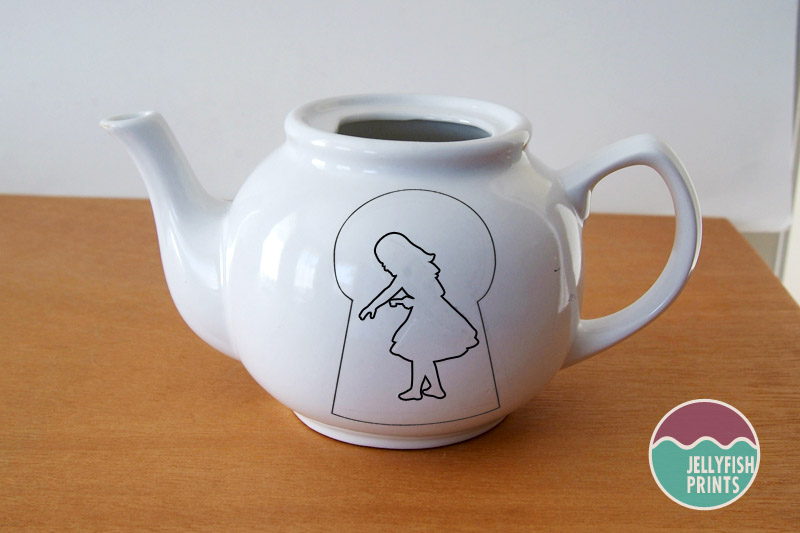 Alice in wonderland teapot.