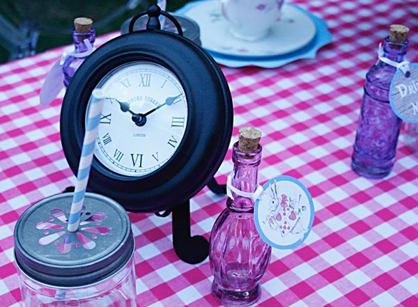 Alice in Wonderland party prop clock