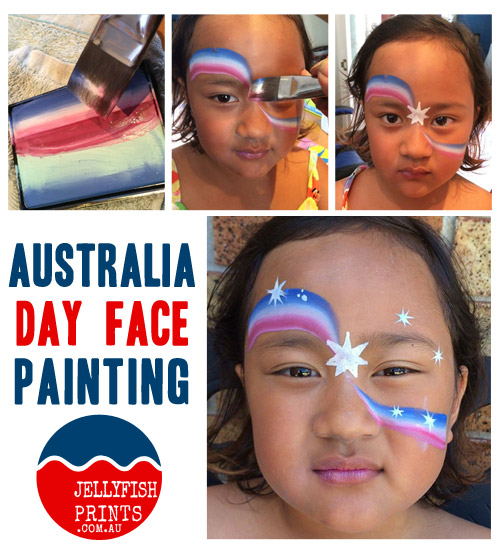 Let us show you how to create an Australia Day face painting design to celebrate this year.