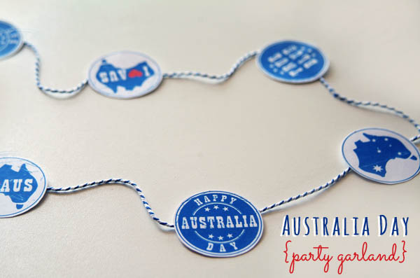 make a party garland for Australia Day