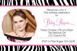Zebra Print Invitations