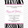 Zebra pattern invitations with hot pink.