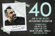 birthday invitation design with a polaroid photo