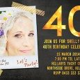 40th invitation with gold highlights