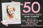 50th birthday photo invitation
