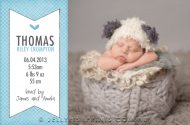 Printable cards for a baby boy announcement. We design, you print.