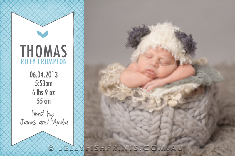 Printable DIY Baby Boy Announcement Cards – Birth Announcement Card