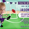 AFL party invitations - Fremantle Dockers colours