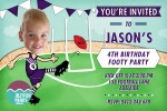 AFL invitations in Fremantle Dockers colours