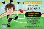 Printable Invitation afl tigers by jellyfishprints.com.au