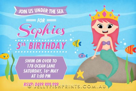A Mermaid invitation design under the Sea