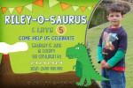 Dinosaur Birthday Invitations you can print.