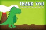 Dinosaur invitation thank you card