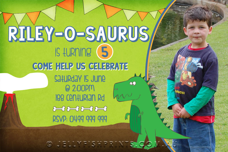 Dinosaur Birthday Invitations You Can Print