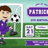 A 2nd soccer birthday invitation inspired by the WA team Perth Glory.