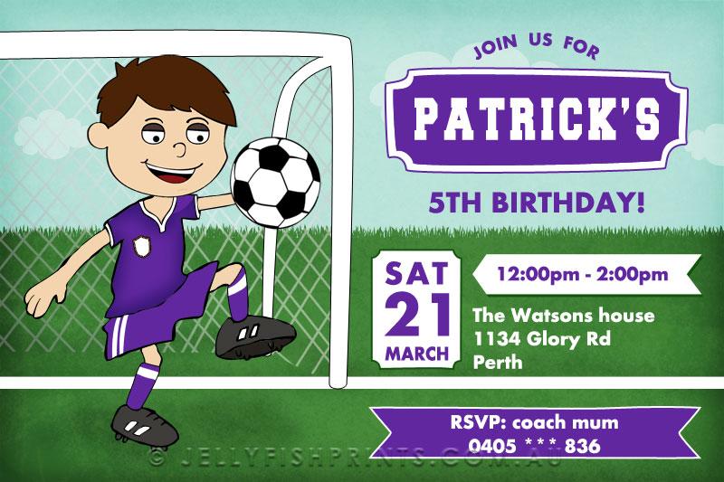 Soccer Football Party Invitations