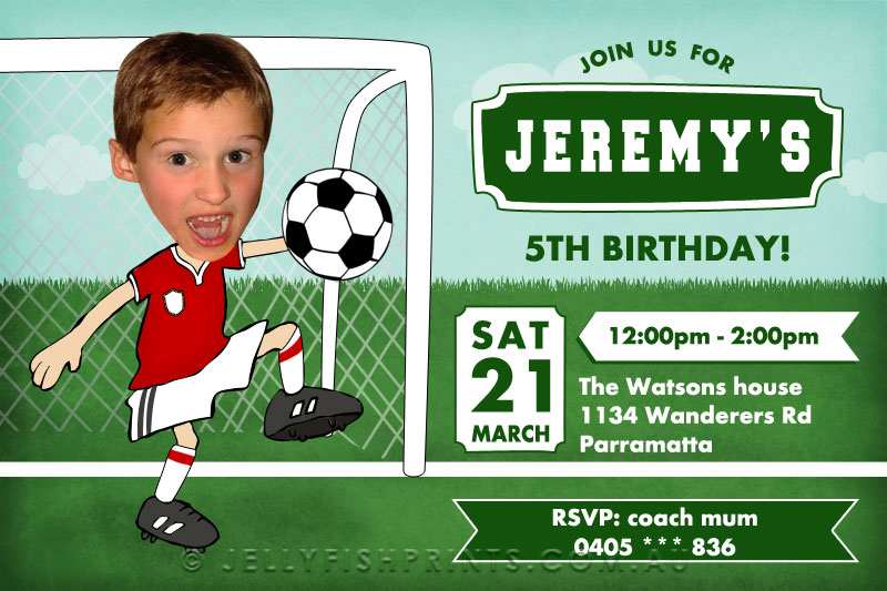 Printable Soccer Birthday Invitations For A Boys Football Party