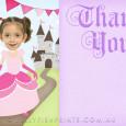 Free printable Princess thank you card