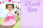 Princess thank you card