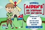 Printable golf party Invitation  by jellyfishprints.com.au