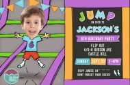 Printable Trampoline party invitation