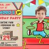 sports party invitation