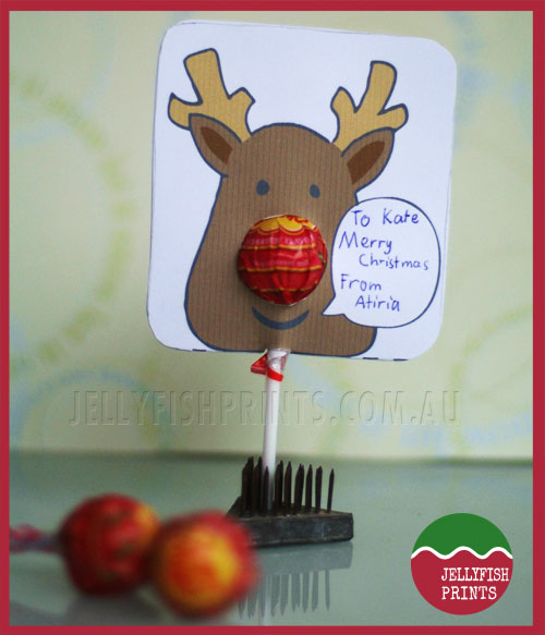 Childrens Christmas cards - alternative way to cut it out