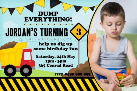 construction party invitation-bk229