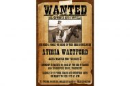 western wanted poster invitation