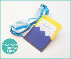 swimming goggles invitation