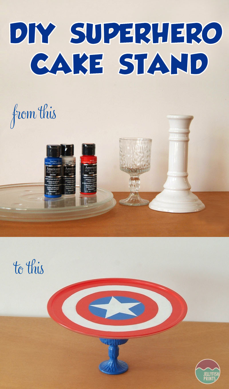 Make your own super hero cake stand