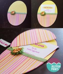 how to make easter egg hunt invitations