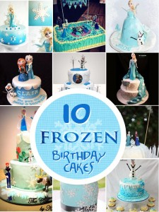 Cakes inspired by the movie Frozen