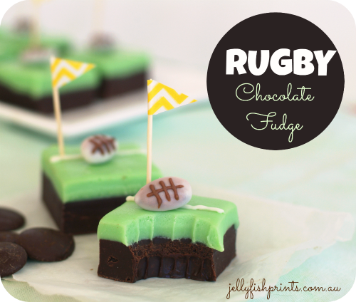 Recipe to make the most amazing rugby party chocolate fudge treats
