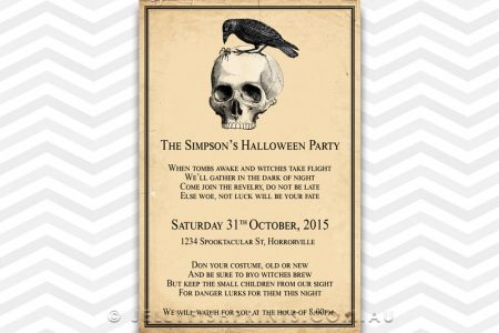 Skull Halloween Party Invitation