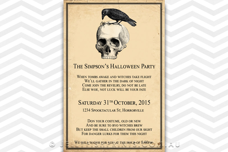 A printable Halloween party invitation for the grown ups