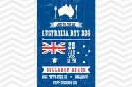 Printable BBQ invitation for Australia Day Celebration