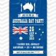 Printable Australia Day Invitation for 2015.