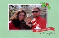 A printable Mistletoe Happy Holidays Card