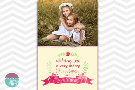 Printable Merry Chirstmas greeting cards with your own photo and wording.